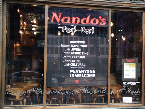 Nando's USA praised for bold inclusive advertising campaign