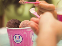 ice cream, prepared and served at Baskin-Robbins