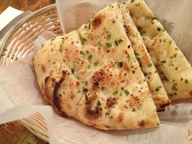 Garlic naan at Spice. Photo supplied.