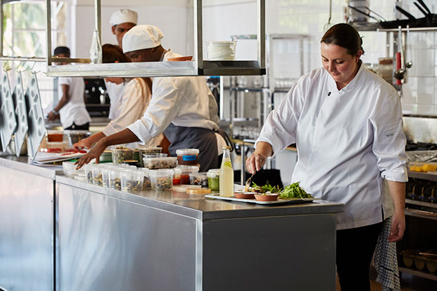 Chef Jenny Ward is passionate about wood-fired food, and much of the menu is prepped in the wood oven. Photo supplied.