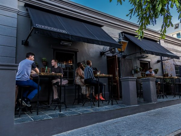 The outdoor seating at Orphanage on Bree Street is an ideal spot for people watching.