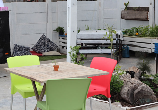 The outside seating area. Photo supplied.