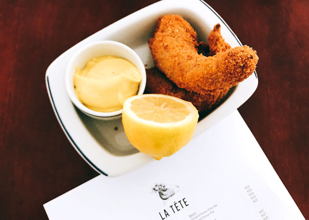 The crispy pigs tails at La Tête. Photo by Rupesh Kassen.