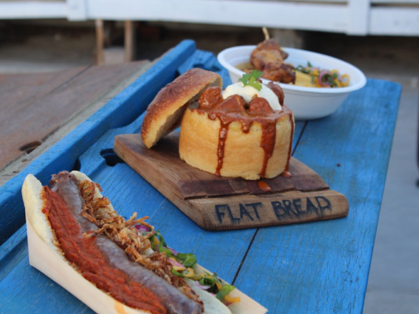 The wors roll and bunny chow. Photo supplied.
