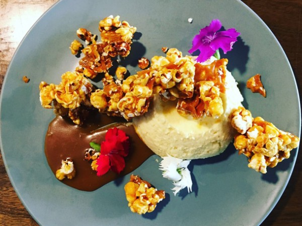 The popcorn cheesecake at Ginger & Fig. Photo supplied.