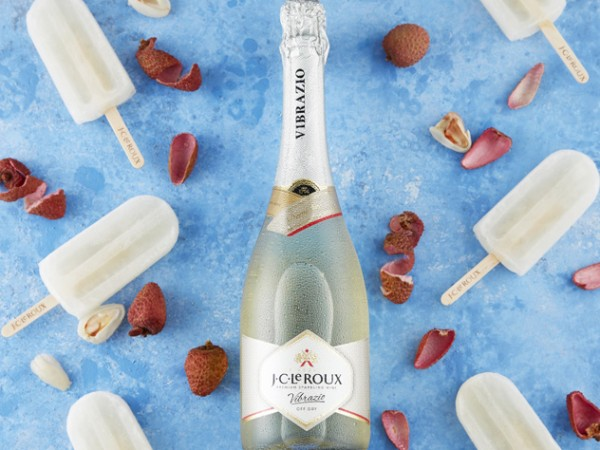 The litchi and demi sec popsicles from J.C. Le Roux. Photo supplied.
