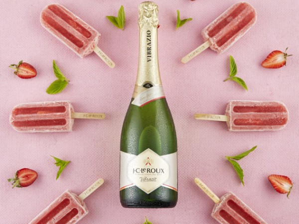 The strawberry and Vibrazio popsicles from J.C. Le Roux. Photo supplied.