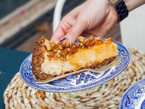 The pistachio nut brittle cheesecake at Delish Sisters. Photo supplied.