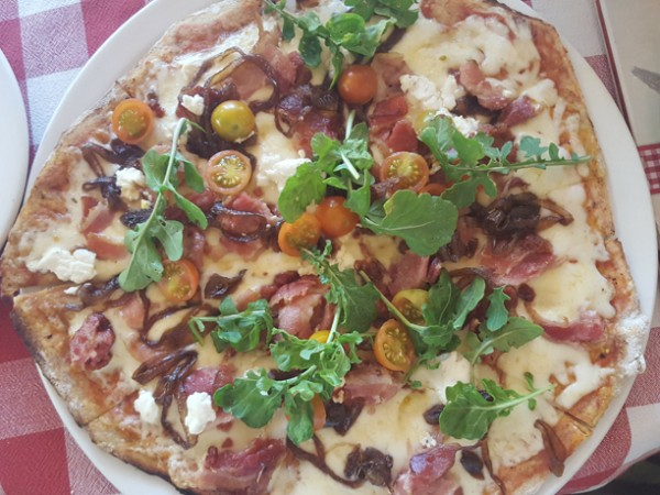 The Sofia Loren pizza at Mama Cucina. Photo supplied.