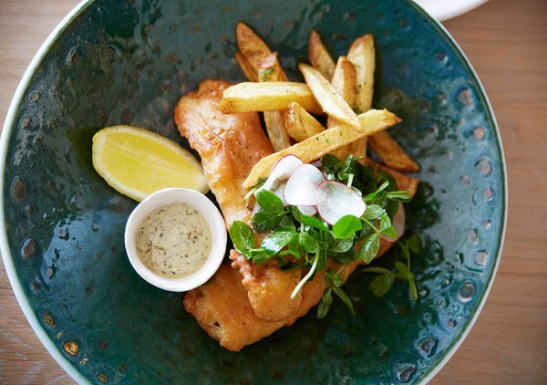 Fish and chips at Mantra in Camps Bay. Photo supplied.