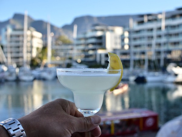 A cocktail and the view at Vista Marina. Photo supplied.