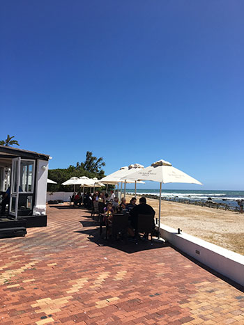 The restaurant couldn't be closer to the beach. Photo by Jaco Voges.