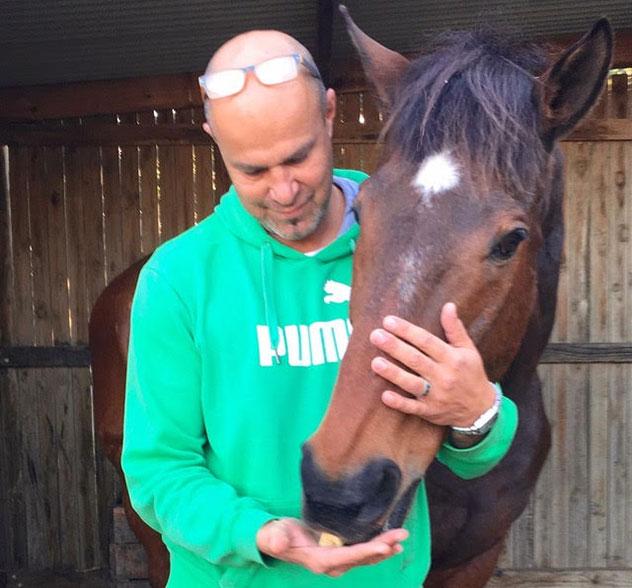 Blaze, one of Franck's beloved horses.