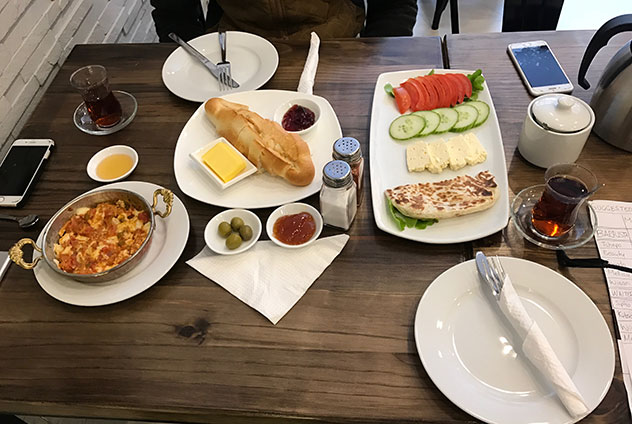 An affordable feast at Galata. Photo supplied.