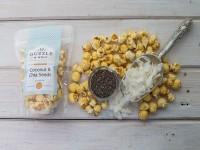 gourmet popcorn prepared by Guzzle & Wolf
