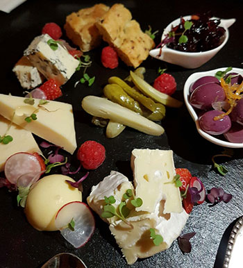 The cheese board. Photo by Sue.