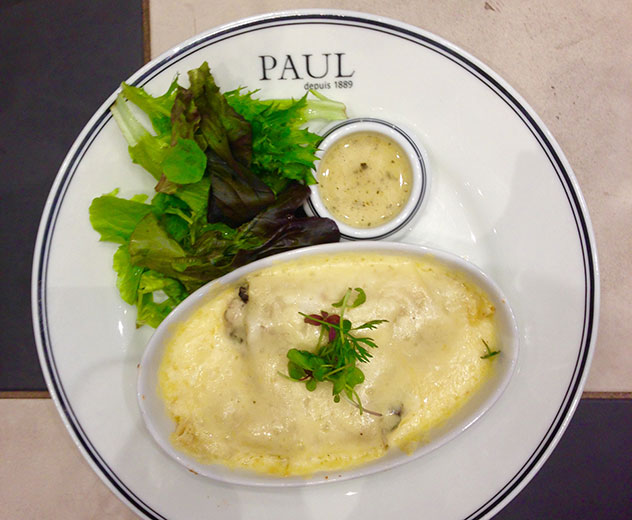 The somewhat uninspiring chicken crepes. Photo by Kate Liqourish.