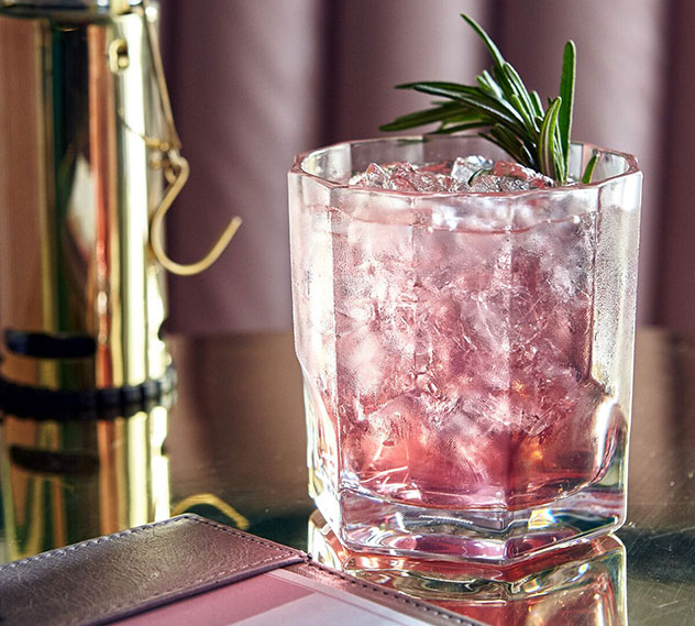 The pink gin at The Stack is almost as pretty as the bar itself. Photo supplied.