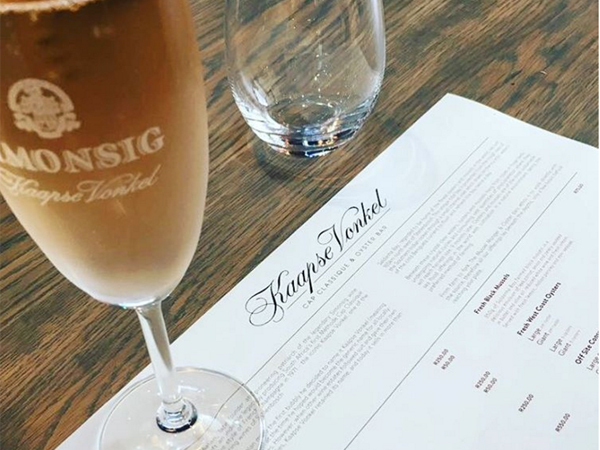 New bubbly-and-oyster bar opens in Stellenbosch