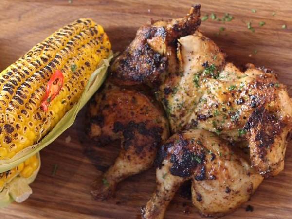 Rotisserie chicken at The Chicken Shop. Photo supplied.