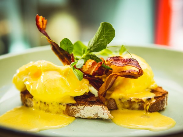 The classic eggs Benedict at Freedom Café. Photo supplied.