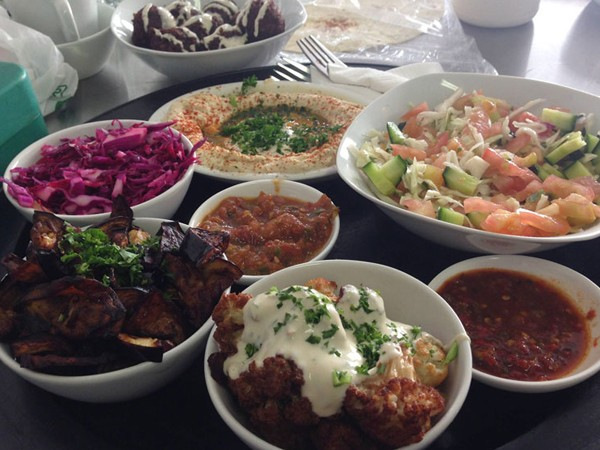 The falafel and sides at Falafel Fundi. Photo supplied.