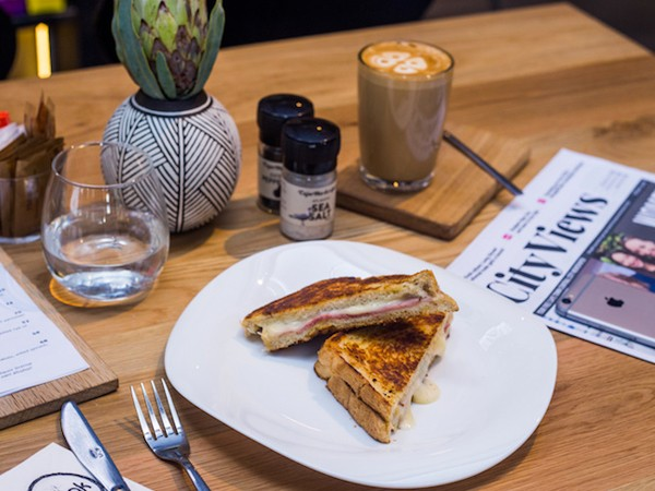 A toasted sandwich at Smak. Photo supplied.