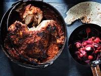 Spatchcock chicken potjie.
