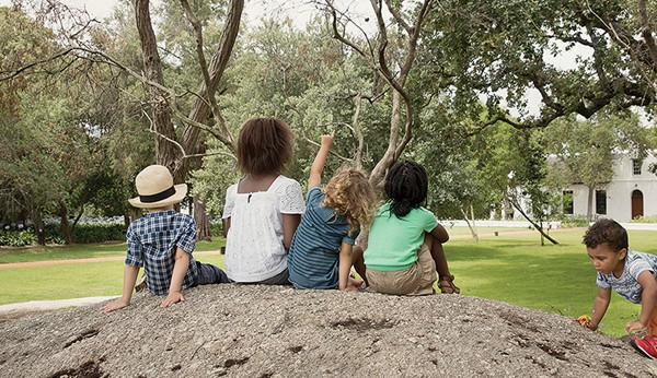 Kiddies playing at Spier. Photo supplied.