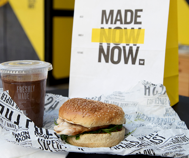 A chicken burger at NOW NOW. Photo supplied.