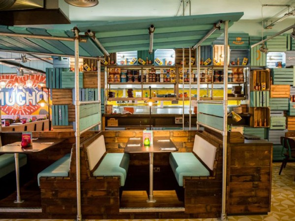 The booth seating at Las Iguanas. Photo supplied.