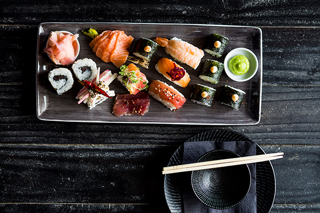 A selection of sushi. Photo by Michael le Grange.