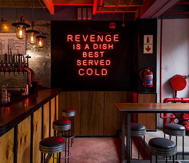 The decor takes its cue from the movie Kill Bill. Photo by Michael le Grange.