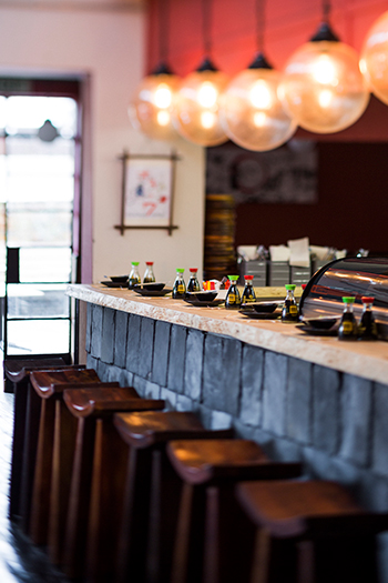 The sushi bar. Photo by Michael le Grange.