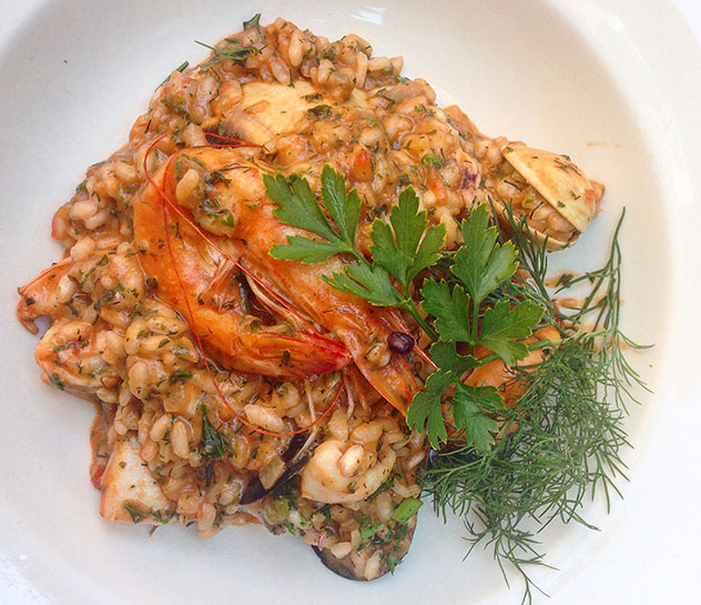 Bellagio's seafood risotto. Photo by Kate Liquorish.