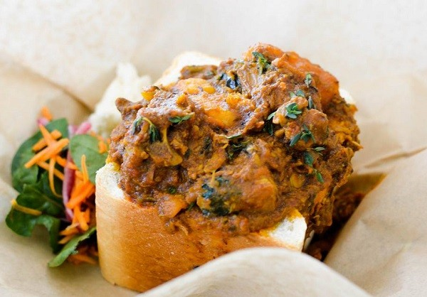 Bunny chow at The Joint Jazz Café. Photo supplied.