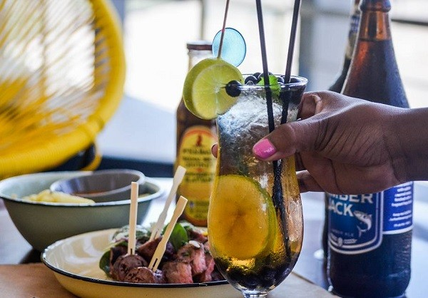 Drinks and shisa-nyama at The Joint Jazz Cafe. Photo supplied.