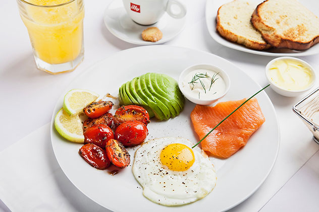 Avoiding carbs? There are also some more virtuous breakfast options. Photo supplied.