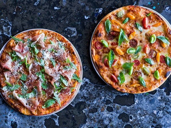 Colourful pizzas at Arcade. Photo supplied.