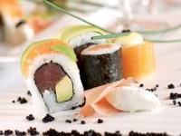 Beluga sushi and caviar