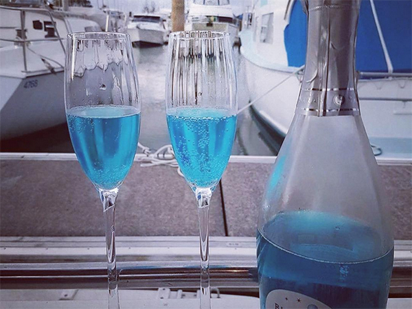 Blue bubbly is now a thing and we have feelings
