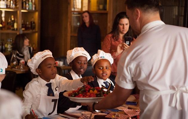 Jamie's Italian kids learn about fruit