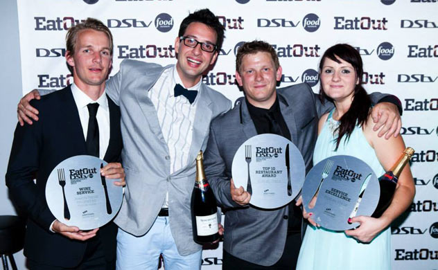 John and Andrea Shuttleworth with their awards at the Eat Out Restaurant Awards. Photo by Jan Ras.
