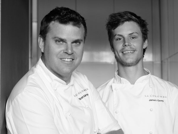 Chef Scot Kirton and James Gaag of La Colombe. Photo supplied.