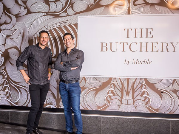 David Higgs and Gary Kyriacou will open their new butchery in July. Photo supplied.