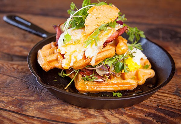 The Federal's waffle stack. Photo supplied.