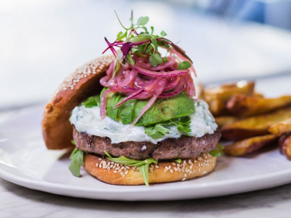 The McQueen burger at Arcade on Bree Street.