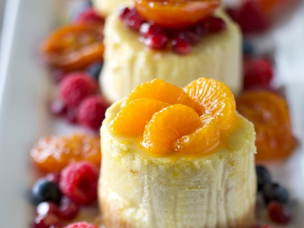 Impress your guests with these individual ClemenGold baked cheesecakes. Photo supplied.