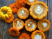 Coffee in a pumpkin