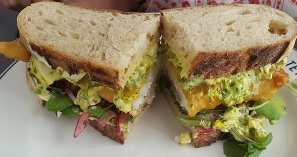 Fish sandwich by Nikita Buxton